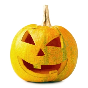 CALABAZA halloween pumpkin scary jack isolated on white background top view 1000p