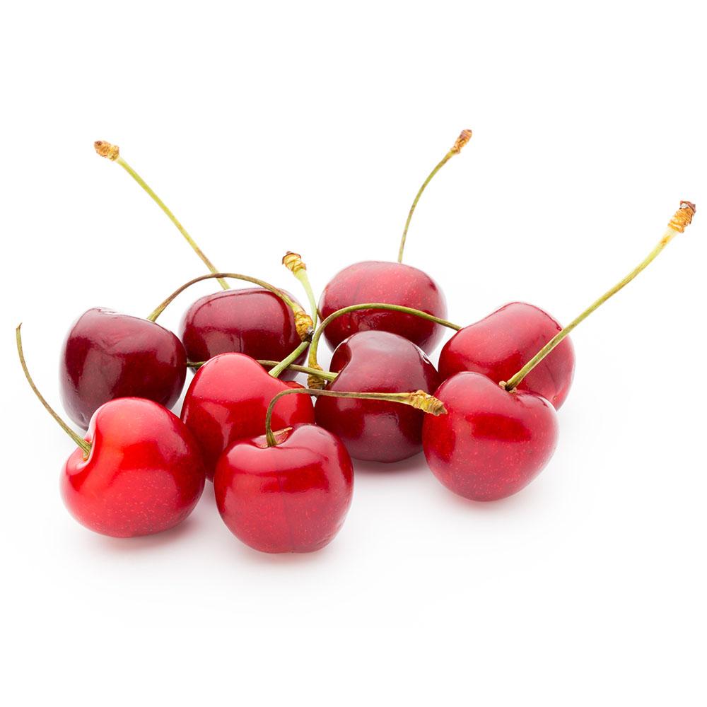 CEREZAS cherry fresh on white background 1000p