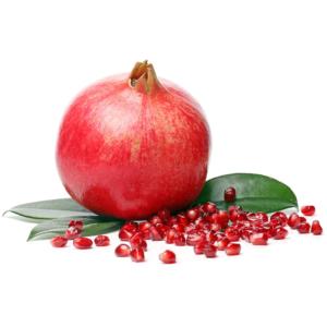 GRANADA exotic and delicious pomegranate on white background 1000p