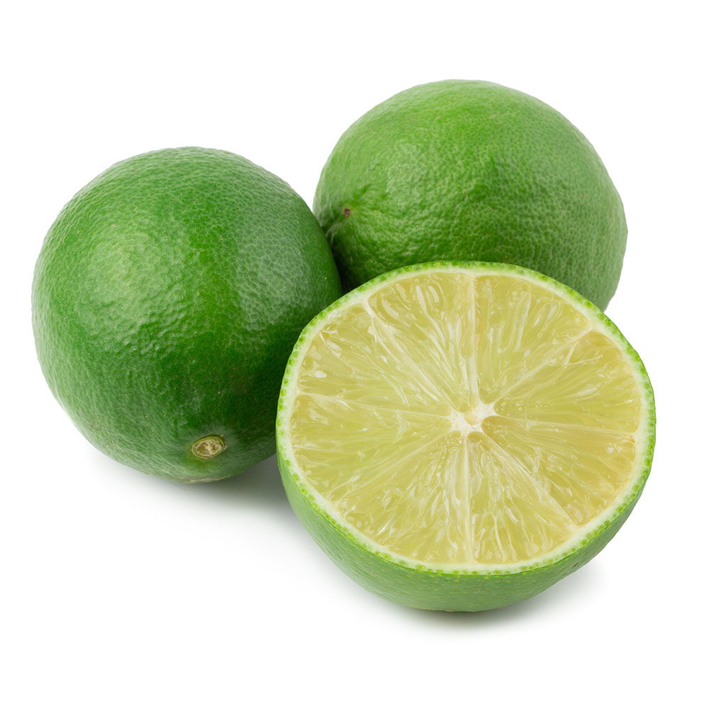 LIMA lime slices isolated on white background 1000p
