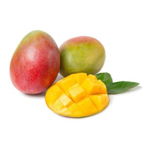 MANGO mango with leaves on white isolated background fresh fruits 1000p