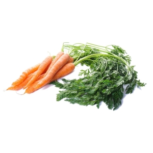 ZANAHORIA ripe carrots with leaves isolated 1000p